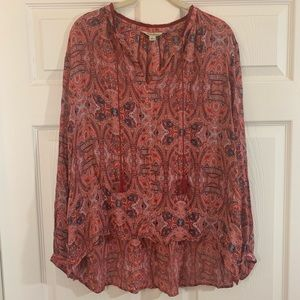 Lucky Brand | Flowy Long Sleeve Top